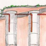 Устройство и характеристики переливного септика из бетонных колец