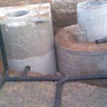 Двухкамерный септик из бетонных колец на фото