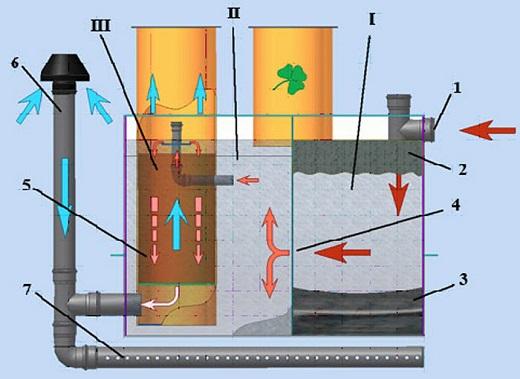 На фотографии показан процесс очистки сточных вод в септике с применением биоактиватора
