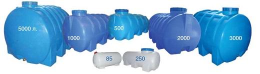 На фотографии пластиковые емкости для септика
