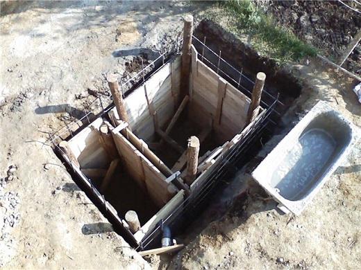 Опалубка для септика из бетона на фотографии